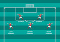 Soccer attacker flat graphic vector position on pitch Royalty Free Stock Photography