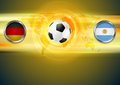 Soccer background germany and argentina football vector design Royalty Free Stock Photography