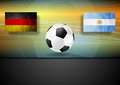 Soccer background germany and argentina football vector design Stock Image