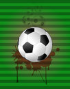 Soccer background illustration of ball with grunge stein Stock Images