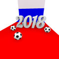 Soccer background 2018 in Russia