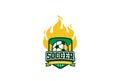 Soccer Badge Logo Design. Sport Team Identity Football Label Royalty Free Stock Photo