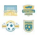 Soccer badge vector set.