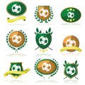 Soccer badges Stock Images