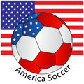 Soccer ball of America with Flag Royalty Free Stock Photos
