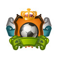 Soccer ball authors illustration in vector Stock Image