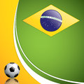 Soccer ball background brazil flag concept vector Royalty Free Stock Photos