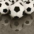 Soccer ball background old Royalty Free Stock Photos