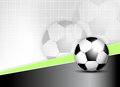 Soccer ball background sports with Stock Photography