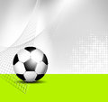 Soccer ball background sports with abstract net texture Stock Photo