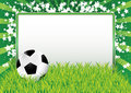 Soccer ball banner Royalty Free Stock Photography