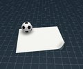 Soccer ball and blank white paper sheet d illustration Royalty Free Stock Image