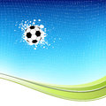Soccer ball on blue background Stock Photography