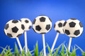 Soccer ball cake pops Stock Photo