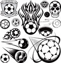 Soccer ball collection colllection of soccerball or futbol related clip art Royalty Free Stock Images