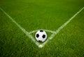 Soccer Ball on Corner Point Royalty Free Stock Photo