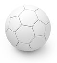 The soccer ball d generated picture of a white Royalty Free Stock Photography