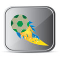 Soccer ball design over gray background vector illustration Royalty Free Stock Image