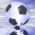 Soccer ball digital illustration of a Royalty Free Stock Photography
