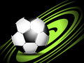 Soccer ball dynamic sports background with Stock Photography