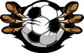 Soccer Ball With Eagle Talons Image Stock Images
