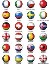 Soccer Ball European Countries Flags Euro 2016 Royalty Free Stock Photo