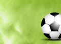 Soccer ball on field sports background with grass Royalty Free Stock Photo