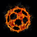 Soccer Ball on Fire Royalty Free Stock Photography