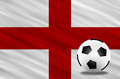 Soccer ball and flag Royalty Free Stock Photo