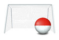 A soccer ball with the flag of monaco illustration on white background Royalty Free Stock Photo