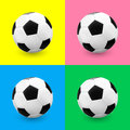 Soccer ball football set on colourful backgrounds vector illustration Royalty Free Stock Image