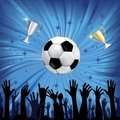 Soccer ball for football sport Royalty Free Stock Photo