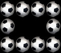 Soccer ball frame Royalty Free Stock Image