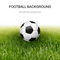 Soccer ball and grass Stock Photo