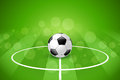 Soccer ball on green background with gridiron Royalty Free Stock Photos