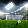 Soccer ball on green Royalty Free Stock Photo