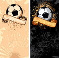 Soccer ball on grunge background Stock Photography