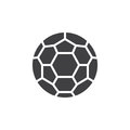 Soccer ball icon vector, filled flat sign, solid pictogram isolated on white. Royalty Free Stock Photo