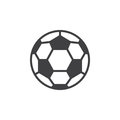 Soccer ball line icon, filled outline vector sign, linear style pictogram isolated on white.