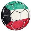 Soccer ball national Kuwait flag. Kuwait football ball. Royalty Free Stock Photo