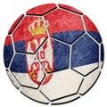 Soccer ball national Serbian flag. Serbia football ball. Royalty Free Stock Photo
