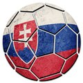Soccer ball national Slovak Republic flag. Slovak Republic footb