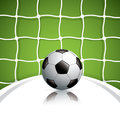 Soccer ball in net sport vector Stock Photo