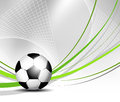 Soccer ball in net sports background with Royalty Free Stock Photo