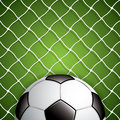 Soccer ball in net vector Stock Photography