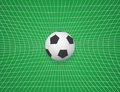 Soccer Ball In Net. Vector Illustration Royalty Free Stock Photography