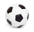 Soccer ball object on white isolated Royalty Free Stock Photos