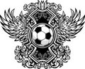Soccer Ball Ornate Graphic Template Royalty Free Stock Photo