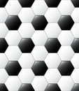 Soccer ball pattern Stock Photography