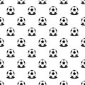 Soccer ball pattern, simple style